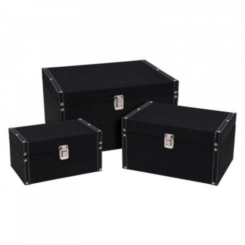Daisy három darabos tároló doboz szett fekete