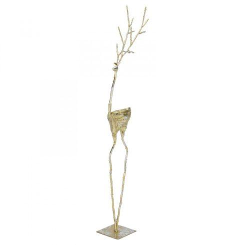 Ágas álló rénszarvas dekoráció arany színben 78cm