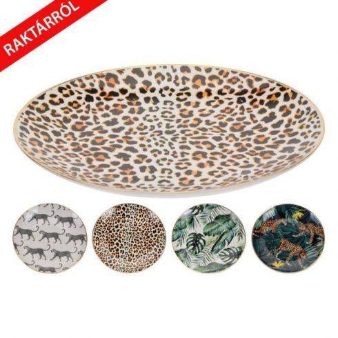 Bones dzsungelmintás tányér négy dizájnban 21cm