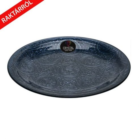 Diana kristály  tányér sötétszürke 35cm