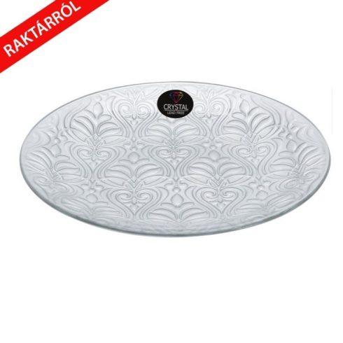 Diana kristály  tányér ezüst 35cm