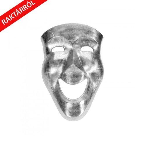 Hamlet színházi maszk falidekor ezüst 46 cm