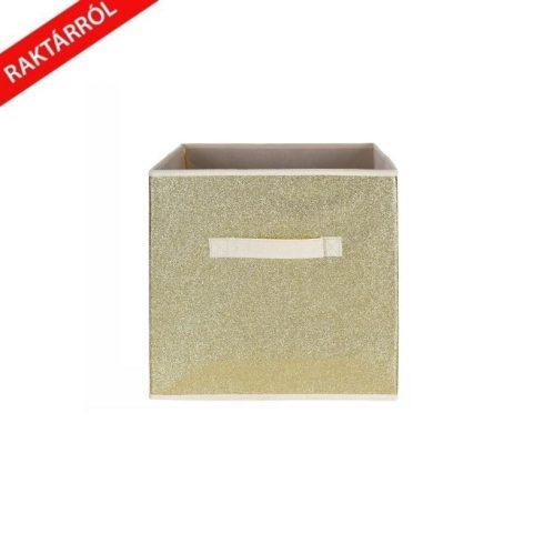 Bella csillámos tárolódoboz arany 30x30 cm